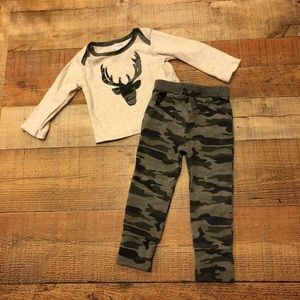 MudPie 2PC Outfit Boys 9/12 months